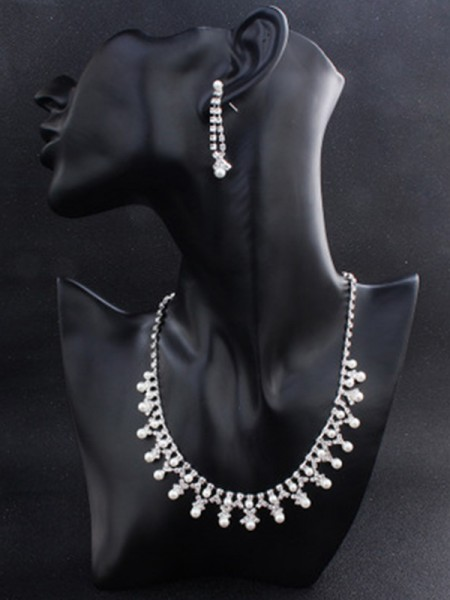 Hot Sale Attractive Alloy Jewelry Set With Pearl