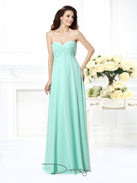 A-Line/Princess Sleeveless Sweetheart Other Chiffon Long Dresses
