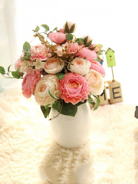 Free-Form Silk Flower Bridal Bouquets Wedding Decoration