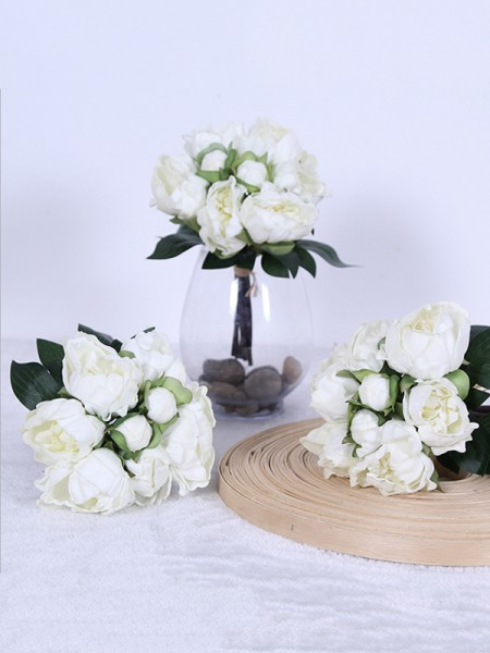 Wedding Marriage Free-Form Silk Flower Bridal Bouquets
