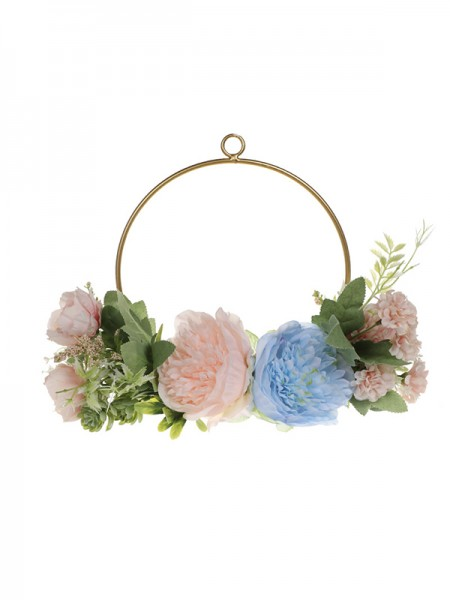 Fashion Wedding Flower Round Plastic Bridal Bouquets