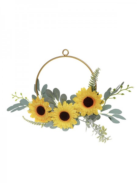 Yellow Sunflower Artificial Flower Wedding Bridal Bouquet