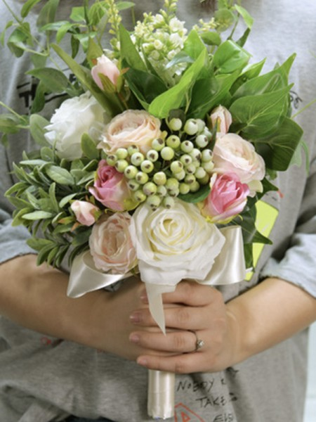 Bridal Bouquets Beautiful Free-Form Silk Flower