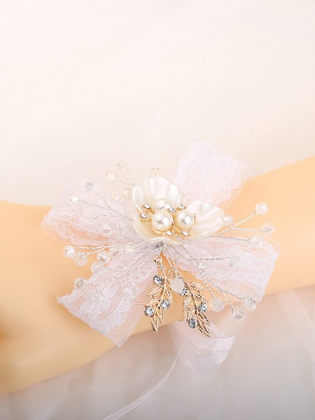 Pure Hand-tied Crystal Bridal Wrist Corsage