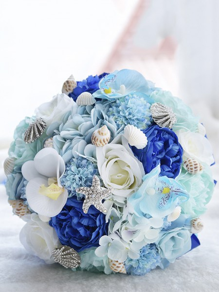 Round Artificial Flower Gorgeous Bridal Bouquets