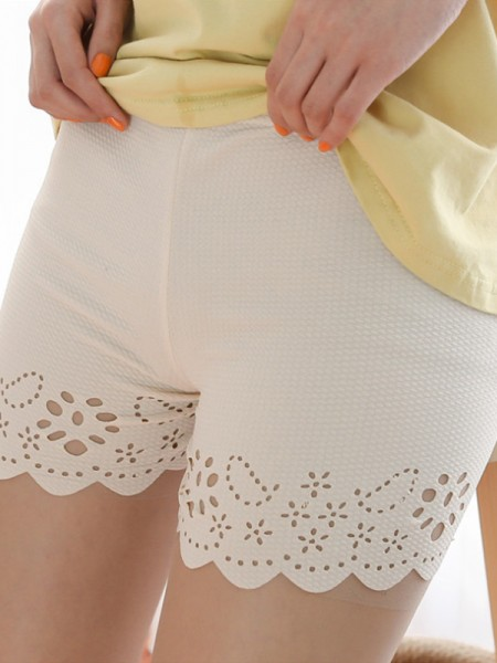 Polyester Fiber Women's Hollow Out Safety Pants/Safety Shorts