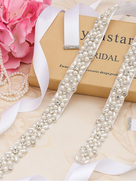 Women's Fancy Cloth Sashes With Rhinestones/Imitation Pearls
