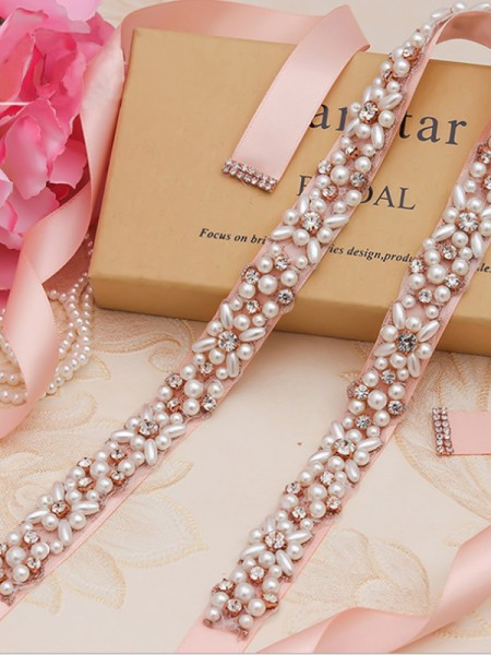 Women's Pretty Cloth Sashes With Rhinestones/Imitation Pearls