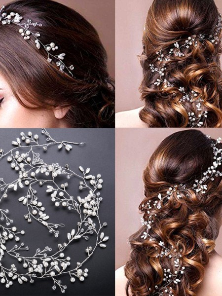 Stunning Pearls Wedding Headpieces