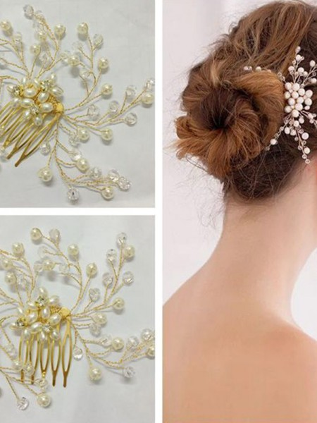 Trending Czech Pearl Wedding Headpieces