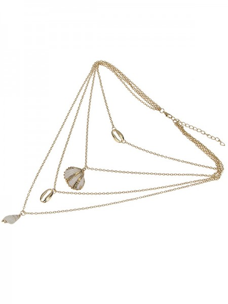 Elegant Women's Alloy With Shell Necklaces