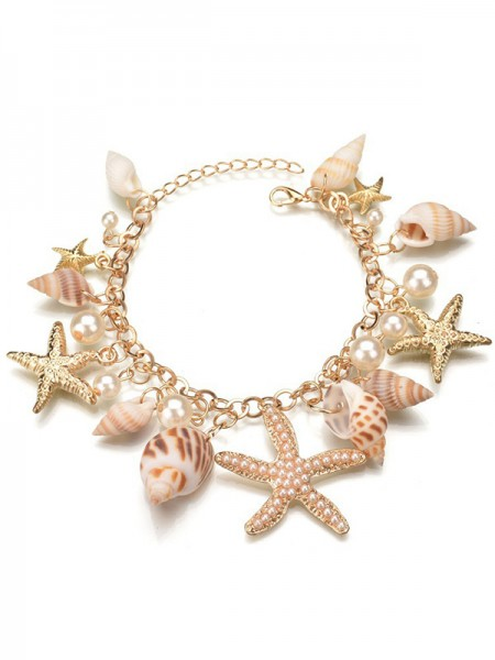 Gorgeous Alloy With Pearl Ladies Necklaces