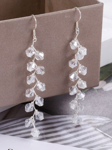 Korean Trending S925 Silver With Crystal Womens Earrings