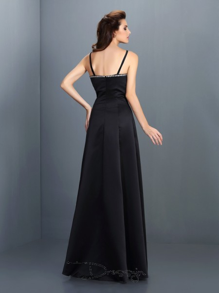 A-Line/Princess Sleeveless Spaghetti Straps Other Chiffon Long Dresses