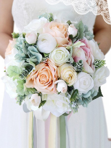 Cascade Bridal Bouquets Wedding Silk Flower