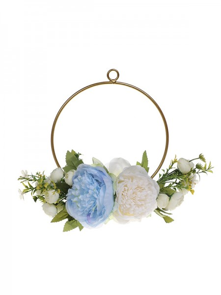 Girly Round Plastic Bridal Bouquets Wedding Flower