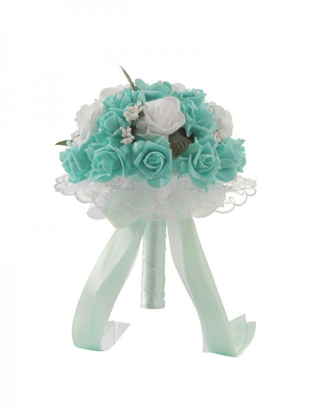 Pretty Round PE Bridal Bouquets Wedding Supplies