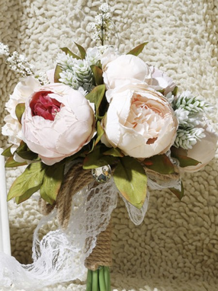Graceful Bridal Bouquets Free-Form Artificial Flower