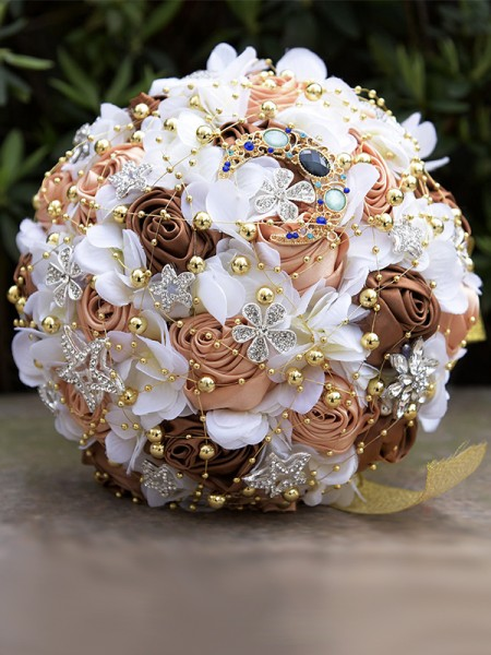 Round Artificial Flower Fashion Bridal Bouquets