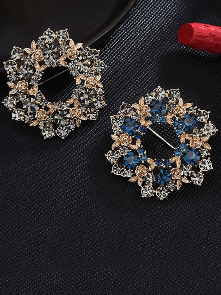 Fashion Alloy With Crystal Womens Brooch