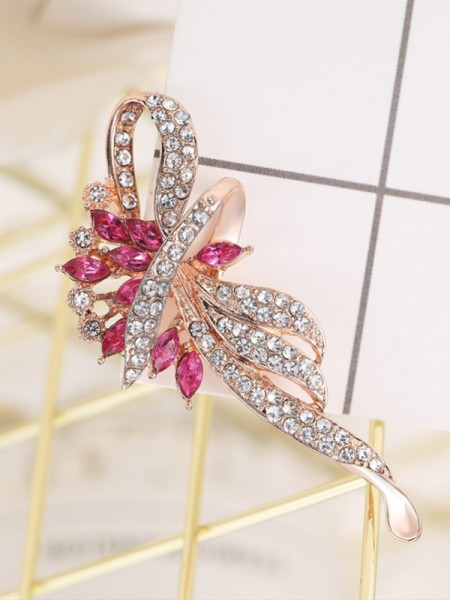 Fancy Alloy With Rhinestone Womens Brooch