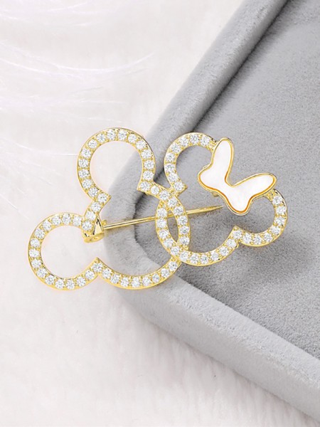 Lovely Rhinestone Womens Brooch