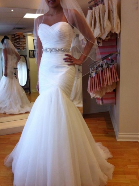 Trumpet/Mermaid Tulle Sleeveless Beading Sweetheart Court Train Wedding Dresses