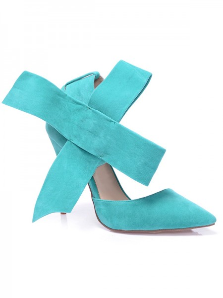 Suede With Knot High Heels S5MA0377LF