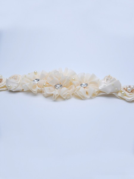 Women's Fancy Satin Sashes With Crystals/Flowers