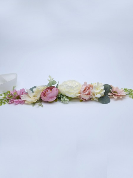 Women's Nice Satin Sashes With Flowers